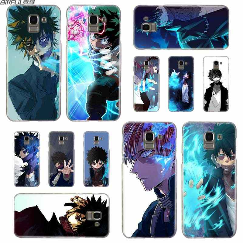 BINFUL Transparent hard case for Samsung J3 J4 J5 J6 J7 J8 2015 2016 2017 EU 2018 Prime Max Anime My Hero Academia