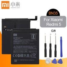 Xiao mi оригинальный телефон батарея BN35 для Xiaomi Redmi 5 5,7 «Замена 3200 мАч высокое ёмкость телефон батареи + Инструменты
