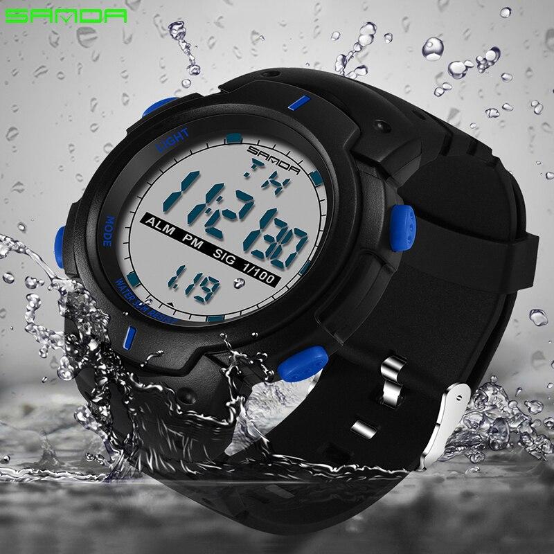 Digitale Uhren Begeistert Sanda Digitaluhr Neue Luxusmarke Militäruhr Mode Männer Sportuhr Alarm Stoppuhr Uhr Männlich Relogio Masculino 2018 Verkaufsrabatt 50-70%