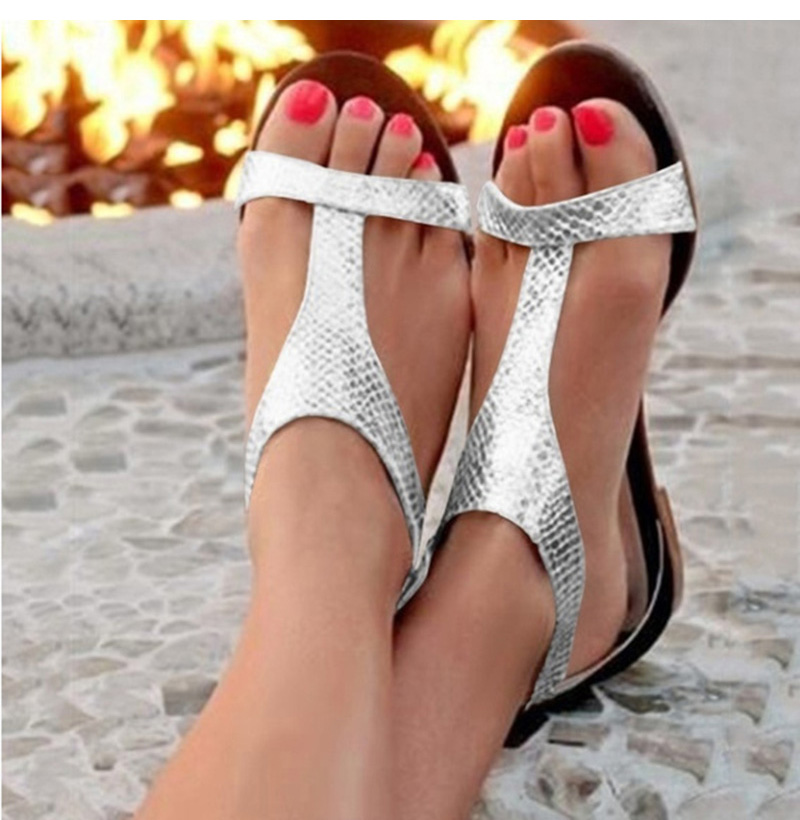 Summer Shoes Woman Sandals 2019 Open Toe Beach Gladiator Flat Sandals