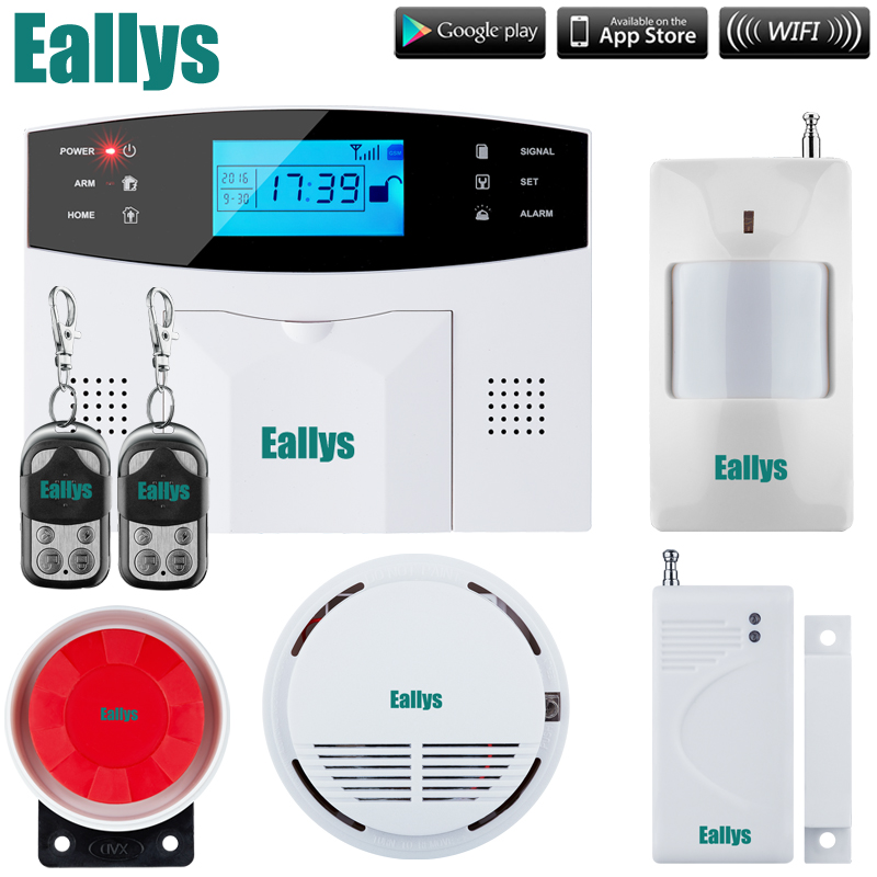 Free shipping French Spanish English Italian Czech Voice GSM Alarm system Home security Alarm system smoke