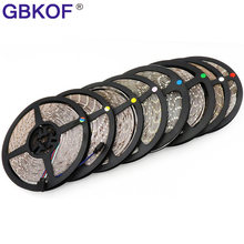 5M/Roll RGB Warm Cool White Red Green Blue Yellow Flexible 3528 Waterproof LED Strip Lighs 300LEDs 60LEDs/M bande LED diode tape(China)