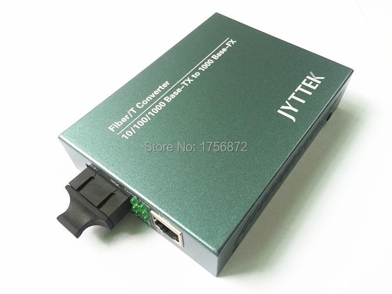 Гигабит Сингле-моде дво-влакнасти претварач медија оптички примопредајник РЈ-45 10/100 / 1000М Етхернет 20КМ СЦ