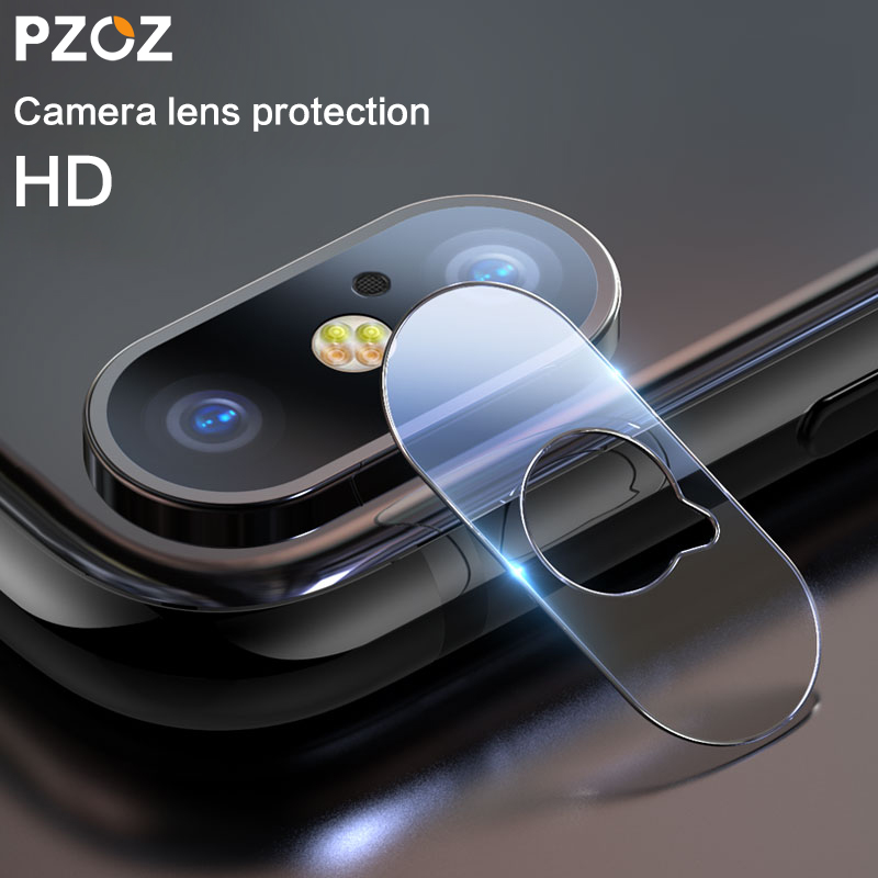 size 40 f4eda 6e214 US $2.79 30% OFF PZOZ For iphone Xs Max X Camera lens glass Back Mobile  phone accessories Scratches protective lens Tempered glass film cover-in  Phone ...