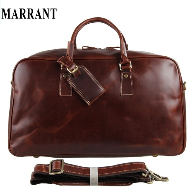 f948a247d Brand NEW arrival Unisex Travel bag genuine Leather bag big luggage & duffle  bags women men's
