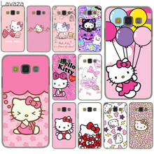 Lavaza lovely cute Hello Kitty lovely pink Hard Case Cover for Samsung Galaxy S8 Plus S3 S4 S5 & Mini S7 Edge S6 Edge Plus