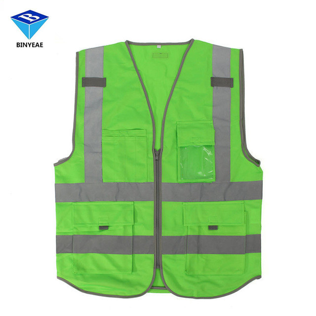 High Visibility Safety Reflective Vest Working Clothes For Outdoor Night Work Security Traffic Cycling Genuine BINYEAE