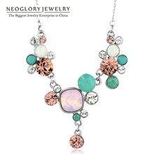 Neoglory made with swarovski elements cristales cadena gargantillas collar collares y colgantes 2017 de la manera de boho maxi joyería js1