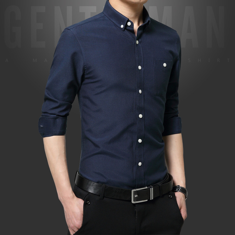 Compare Prices on Long Sleeve Slim Fit Black Shirt Men- Online ...