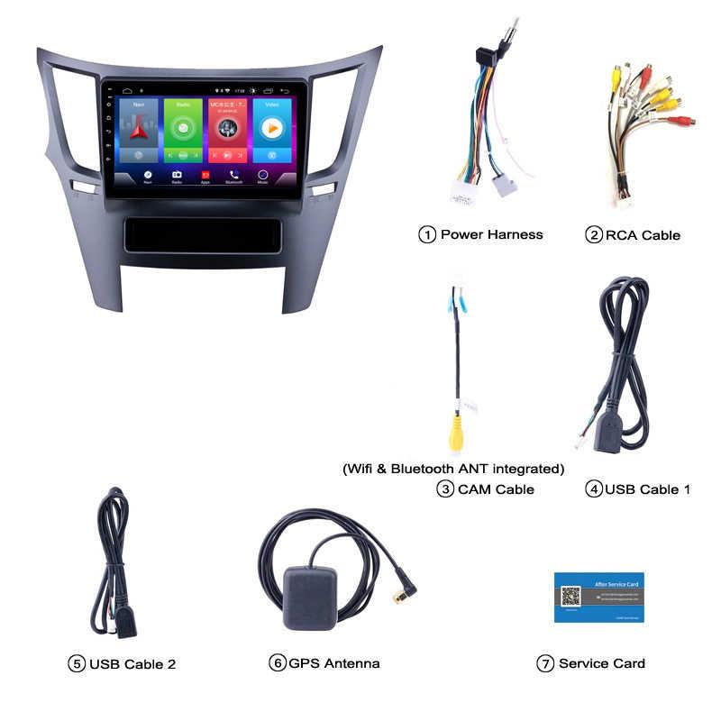 車アンドロイド 8.1 マルチメディアプレーヤースバルレガシィアウトバックフォレスターインプレッサ用 09-14 Gps ナビゲーションデバイス bluetooth ステアリングホイール制御サポート