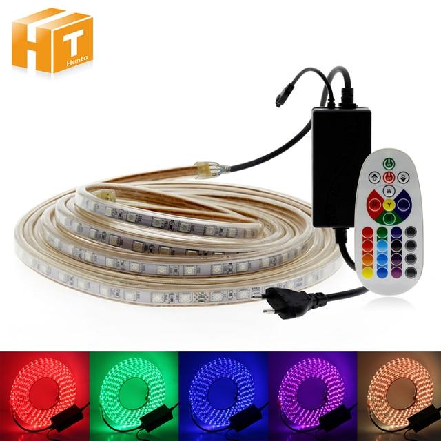 220 V LED Streifen RGB/Warm Weiß + Blau/Warm Weiß/Weiß 60LED/M Wasserdichte AC220V flexible LED-Licht Streifen.
