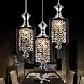 Светодиодный светильник с кристаллами для ресторана, бара, столовой, абажура, креативная личность, три с одной головкой, простые современны...