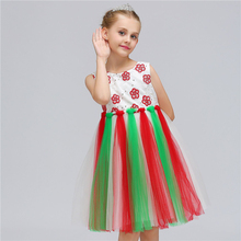 New Girls Dress Mesh Tassel Kids Party Dresses For Girl Flower Princess Dress Children retail 2018 new style girl lovely flower girl dresses floor length girls dress bridal gowns children party dress lace003