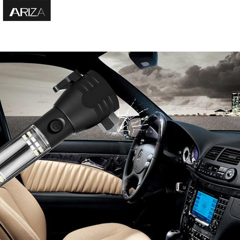 Ariza Car Safety Hammer Emergency Escape Hammer Rescue Kit Tool with Seatbelt Cutter Window Breaker USB Charger thor t1 car charger stainless steel safety hammer dual usb smart car charger