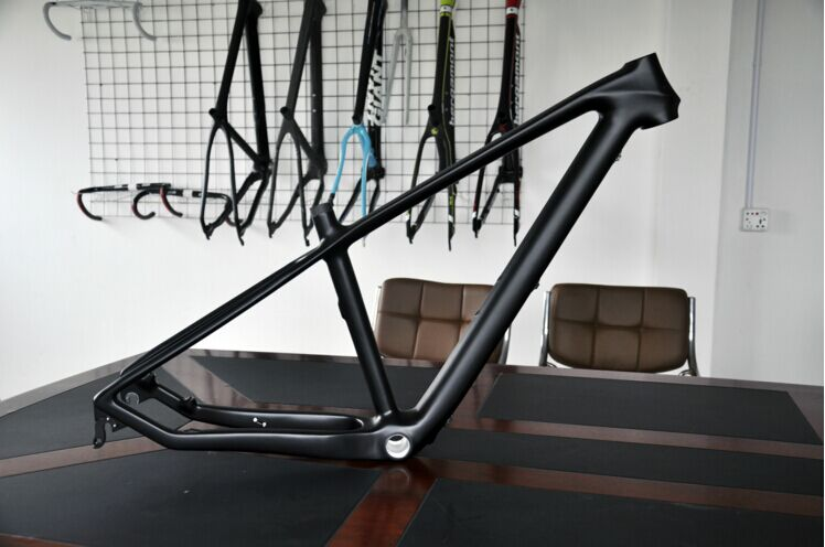 Free shipping MTB bicycle 3k carbon frame+seat post+clamp+headset 27.5er 15.517 1260G without logo Mountain bike carbon frame 1 pair china post free shipping komori paper brush wheel with seat frame width 7 9cm