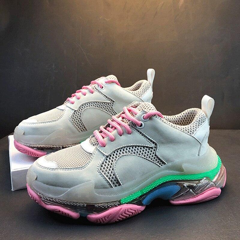 Caminar Nueva Mujer Para Tenis Malla Negro Rosa Negro Señoras Encaje Zapatillas Moda De Zapatos 2019 Tamaño rosado Deporte Gran Mujeres w6zdXq6x