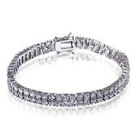 Dames de mode Bracelet rhodium plaqué avec blanc cz charme bracelets amour bracelet style classique Livraison gratuite