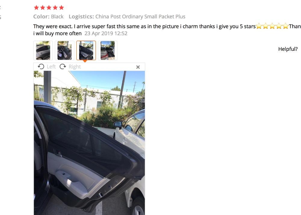 2Pcs Car Sun Shade UV Protection Car Curtain Car Window Sunshade Side Window Mesh Sun Visor Summer Protection Window Film New 3