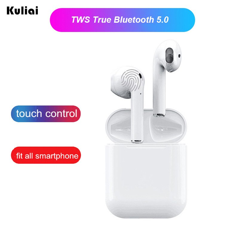 $29.00 Air i12 tws pods wireless earphone Bluetooth 5.0 headset smart touch sports binaural true stereo for iphone xiaomi Android phone