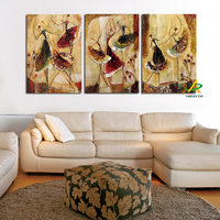 Unframed 3 Pcs Handpainted Ballet Dancer Abstract Painting Modern Wall Art Picture Home Decor Oil Painting