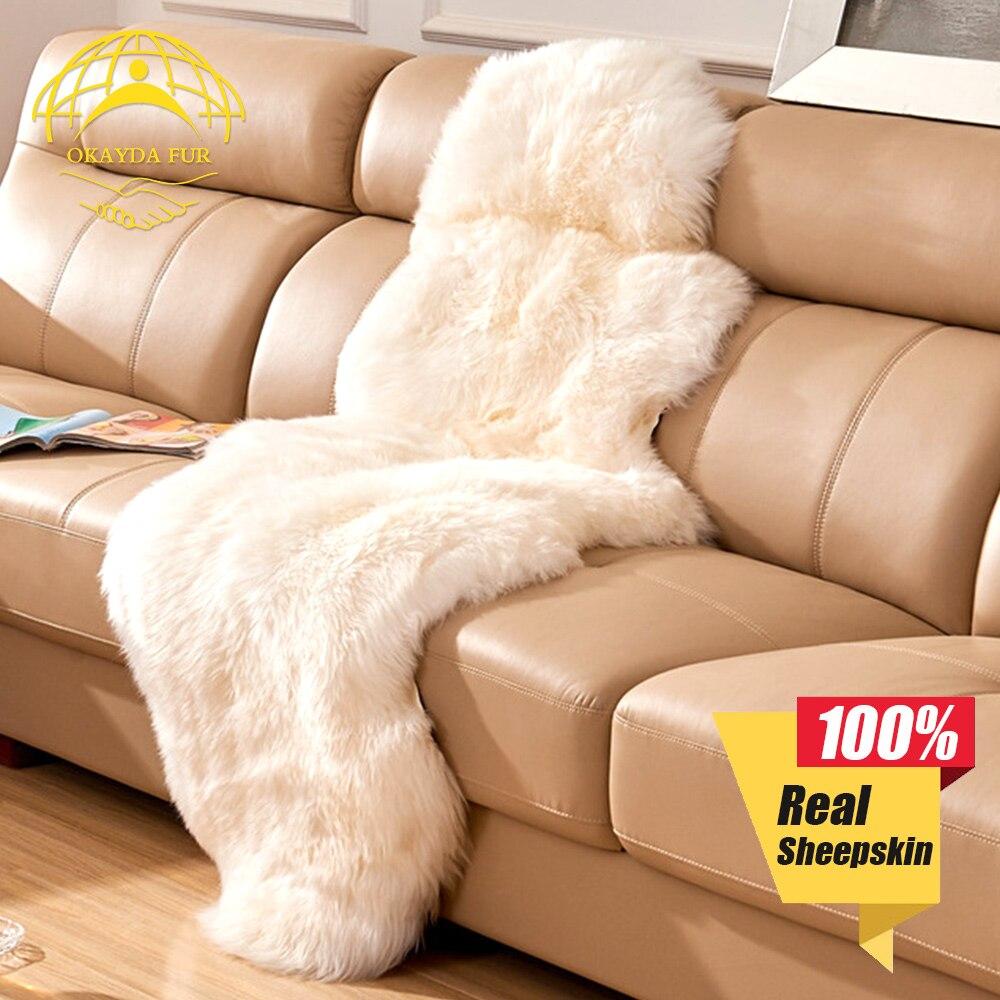 OKAYDA Decke Kissen Teppiche Teppich Weich Warm Verdicken Shaggy 100% - Auto-Innenausstattung und Zubehör