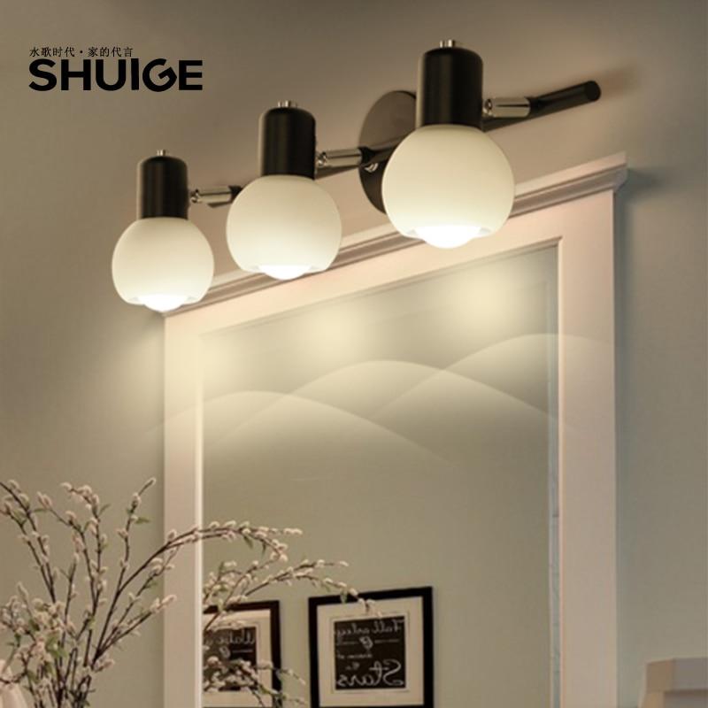 Фотография American minimalist Floor Lamps bathroom mirror lamp LED simple Modern Vanity Dresser bedroom cabinet lamp LU626 ZL151