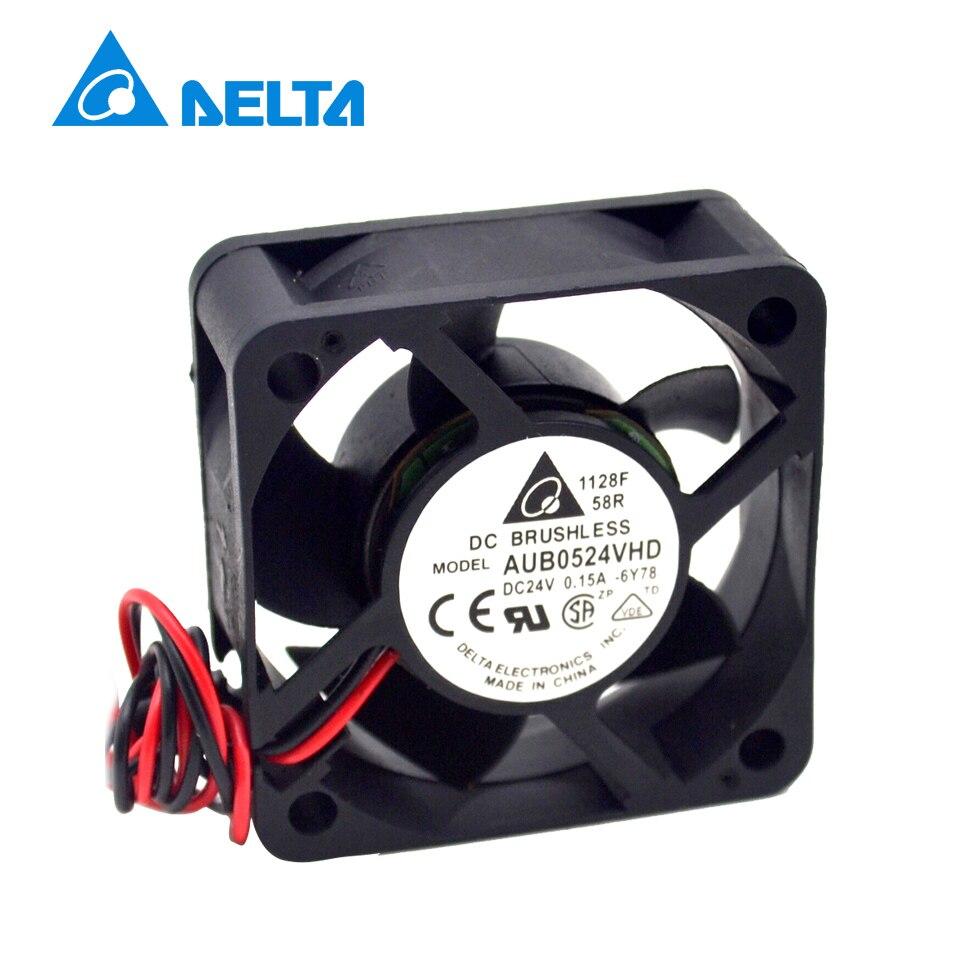 DELTA Spedizione Gratuita Delta AUB0524VHD 5020 50mm 5 CM DC 24 V 0.15A il Caso PC inverter Server di Raffreddamento fan