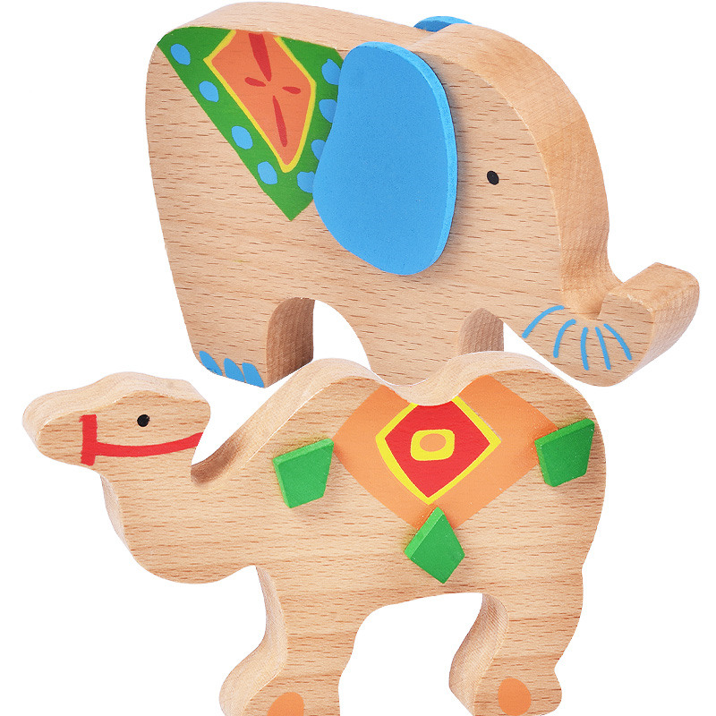 Building Blocks Wooden Toys For Children Elephant/Camel Balancing Toys Game Baby Montessori Educational Toys Birthday Gift