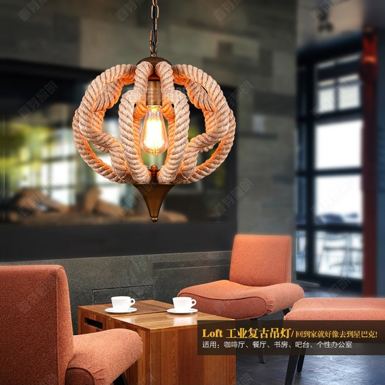 American rural character designer lights nordic loft extreme american rural character designer lights nordic loft extreme simplicity hemp rope pumpkin retro rustic chandeliers lamp lighting in pendant lights from aloadofball Gallery