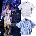 Nueva Llegada de Justin Bieber Concierto Temor De Dios Mismo Diseño de la Camisa media Manga Con Cremallera Lateral Para Los Hombres Hip hop camisas M282