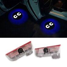 Projector CC Logo Ghost Shadow light LED Car door Courtesy Laser Lights For Volkswagen VW CC Touareg MAGOTAN Passat B6 B7 Sharan