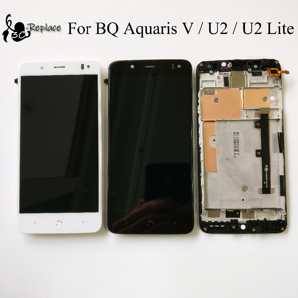 """Blanc/noir 5.2 """"pour BQ Aquaris U2/BQ Aquaris U2 Lite/BQ Aquaris V LCD écran tactile numériseur assemblée avec cadre-in Écrans LCD téléphone portable from Téléphones portables et télécommunications on AliExpress - 11.11_Double 11_Singles' Day 1"""