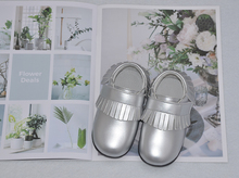 Buy little girls shoes tassel flat toddler silver champagne kids spring autumn shoe chaussure de menino zapatos SandQ baby 2019 new directly from merchant!