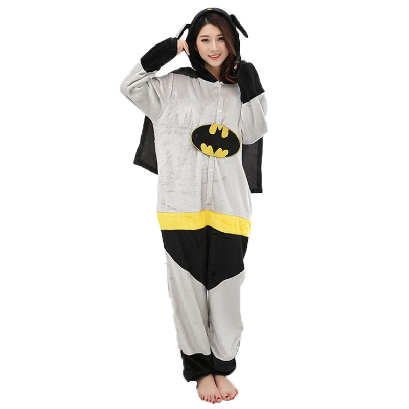 Adult Anime Batman Superman Kigurumi Onesies Costume For Women Men Funny Warm Soft Animal Cute Onepieces Pajamas Home Wear Girl