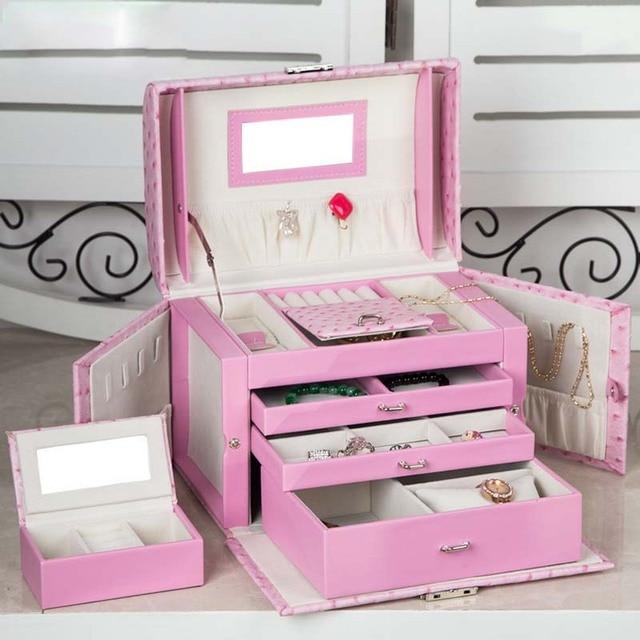 Hot Sale Large Jewelry Box Women Gift Travel Makeup Organizer