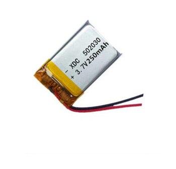 1 pcs Ricaricabile Li-Po batteria 052030 502030 batteria al litio batteria ai polimeri di 3.7 V 250 mah MP3 MP4 giocattolo Per GPS METÀ di Auricolare Bluetooth