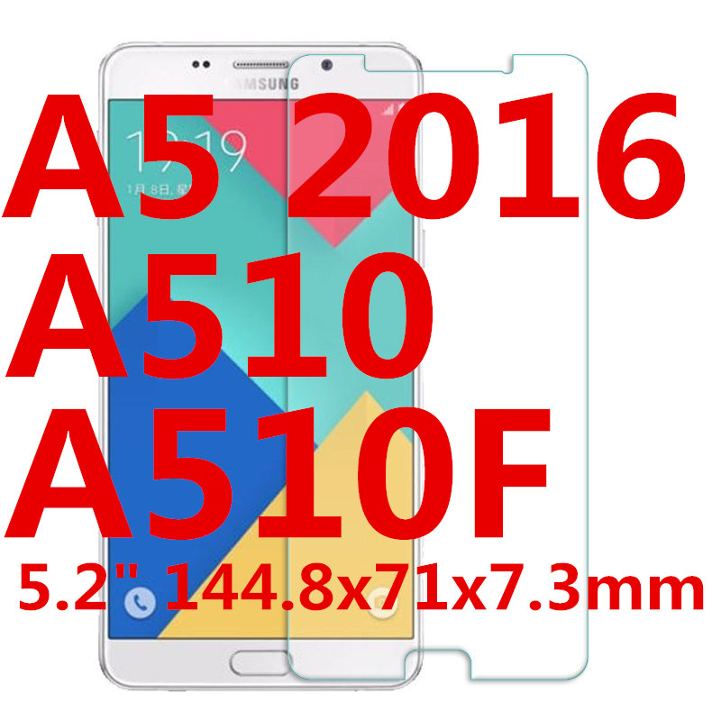 Tempered Glass For SAMSUNG Galaxy A5 2016 Screen protective 5 2 inch A510 A510F smartphone toughened case 9H on crystals crystal in Phone Screen Protectors from Cellphones Telecommunications