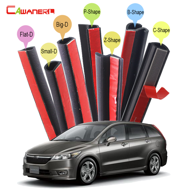 Cawanerl Car Sealing Seal Strip Kit Weatherstrip Noise Control Self-Adhesive For Honda Stream City Ciimo Spirior Crider Fit