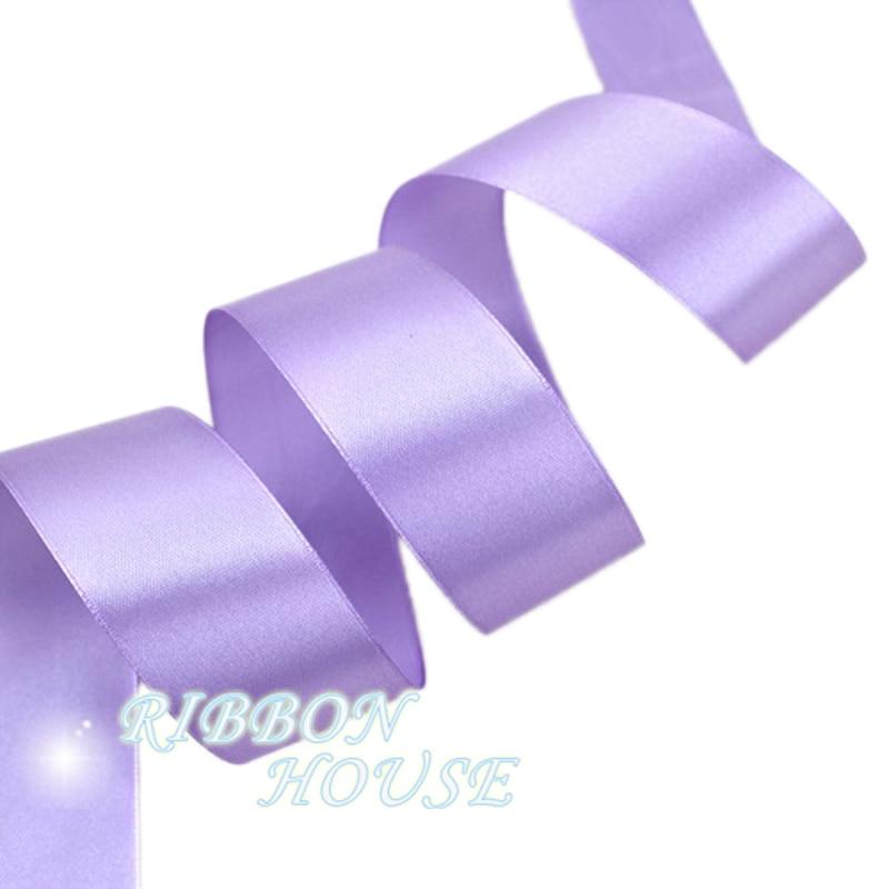 (25 ярдов/рулон) 40 мм лаванды Свадебные украшения Один Уход за кожей лица атласная лента Подарочная Рождество Ленты