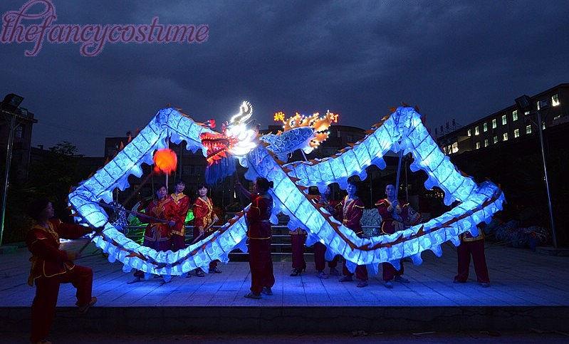 5.5 M Kindergröße LED-LeuchtenCHINESE DRAGON TANZ silkFolk Festival - Kostüme