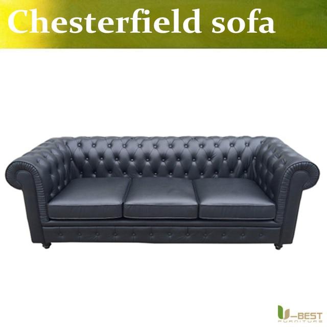 U-BEST Chesterfield Vintage Leather Sofa,designer Vintage Couches,Leather sofas and chesterfield sofas