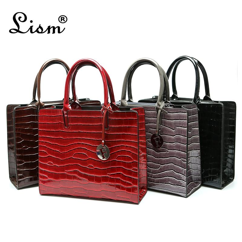 Luxury Crocodile Pattern Women Handbags Fashion Sequined Shoulder Bag Female Big Tote Bag Brand Leather Crossbody Bags For Women