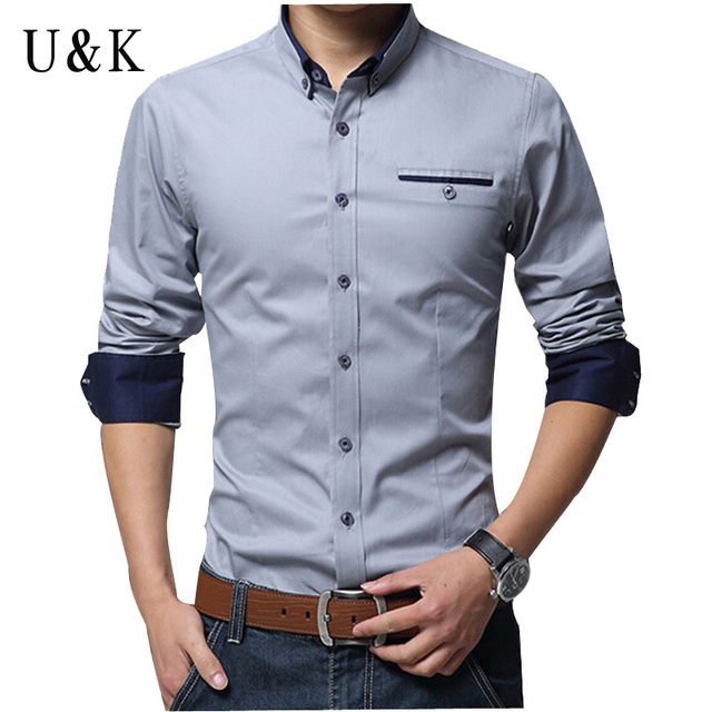 Men dress shirt 2016 hot men 39 s slim fit long sleeve shirts for Mens dress shirt sleeve length