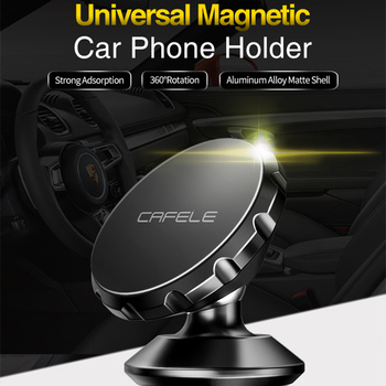 CAFELE Universal Magnetic Car Phone Holder 360 Rotation Air Vent Mount Phone Stand for iPhone X Samsung S10 Car GPS Phone Holder