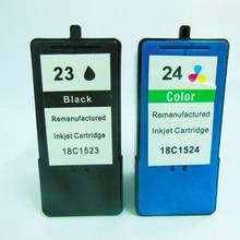 2piece  Ink Cartridge for Lexmark 23 Black & 24 Color X3530/X3550/X4550/X4530/Z1420 printer