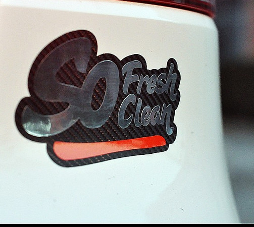 High quality For so clean and fresh JDM Reflective car sticker and decals cool modified accessories