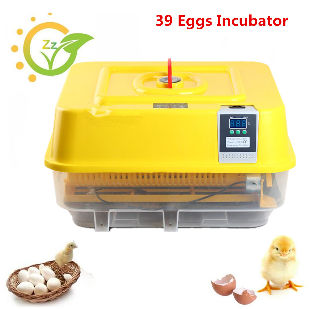 Mini Full Automatic Eggs Incubator Egg-turner Poultry Hatching Machine 39 Chicken Duck Eggs Hatcher electric egg washing machine chicken duck goose egg washer egg cleaner wash machine poultry farm equipment 2400 pcs h