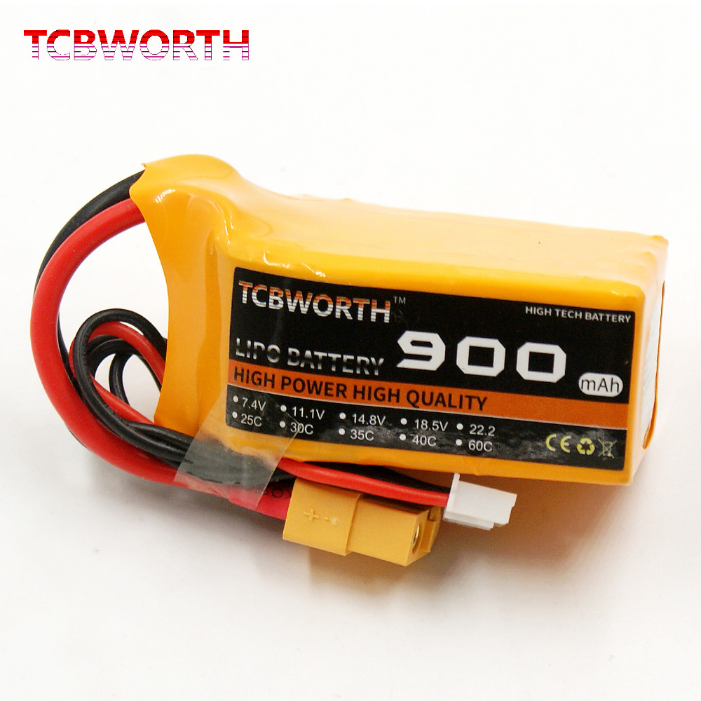 2PCS/Pack TCBWORTH <font><b>Batteries</b></font> 2S <font><b>7.4V</b></font> <font><b>900mAh</b></font> 40C <font><b>RC</b></font> LiPo <font><b>Battery</b></font> For <font><b>RC</b></font> Helicopter Airplane Car Boat Quadrotor <font><b>RC</b></font> <font><b>Battery</b></font> 2S image
