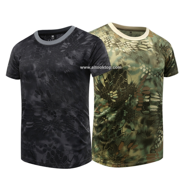 ca2bbd6a Wholesale men Military combat shirt camouflage army short sleeve T shirt  quick dry Tee breathable dri fit camo typhon T-shirt