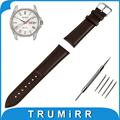 18mm 20mm 22mm Genuine Leather Watch Band for Seiko Watchband Stainless Steel Pin Buckle Strap Wrist Bracelet Black Brown